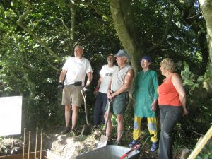 Members of SHAL taking part in an experimental archaeology project